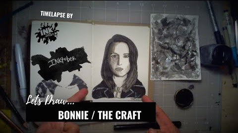 We Drew Bonnie from the movie The Craft! - Inktober 2018