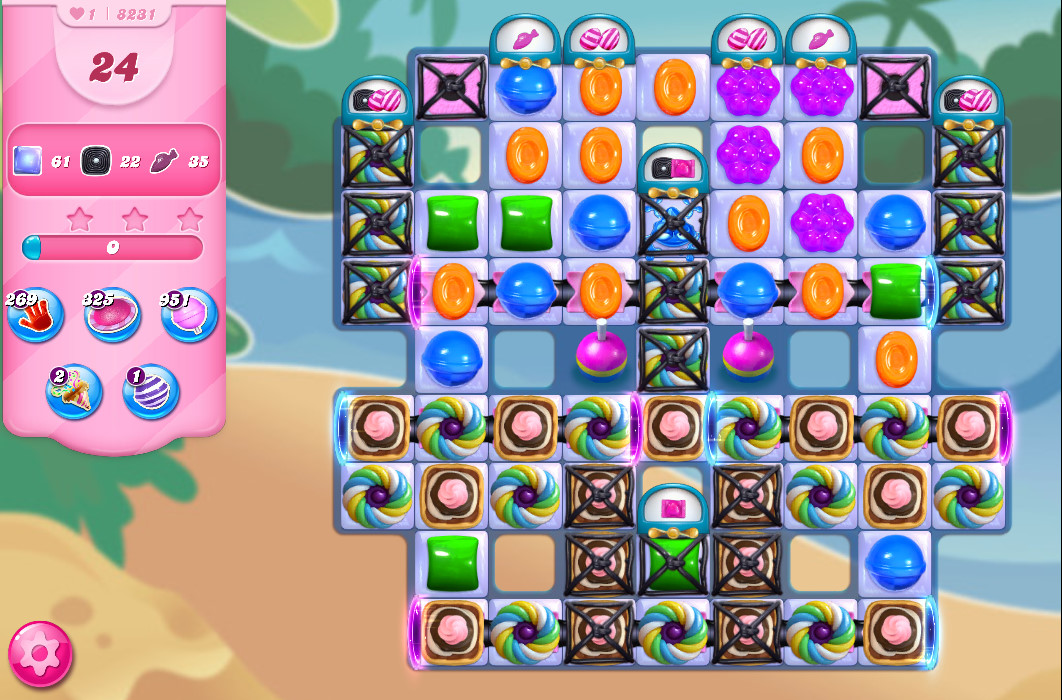 Candy Crush Saga level 8231