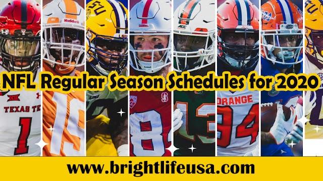 NFL Regular Season Schedules for 2020