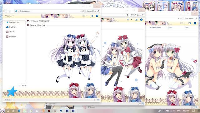 Windows 10 Ver. 1803 Theme Alice or Alice by Enji Riz