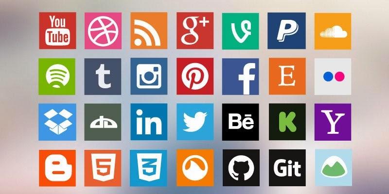 Flat Social Media Icon Pack