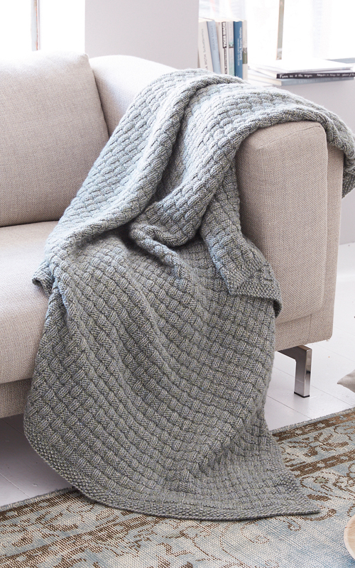 Easy Tweed Blanket - Free Pattern
