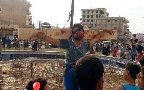 siria,rebeldes islámicos, crucifixion, noticias de impacto mundial