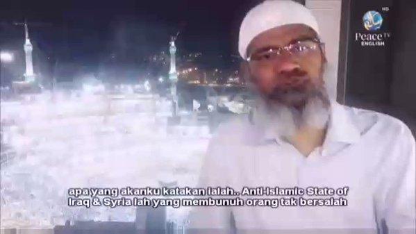 TEGAS, Inilah Opini Dr Zakir Naik Tentang ISIS Yang Tampar Tuduhan Danai ISIS