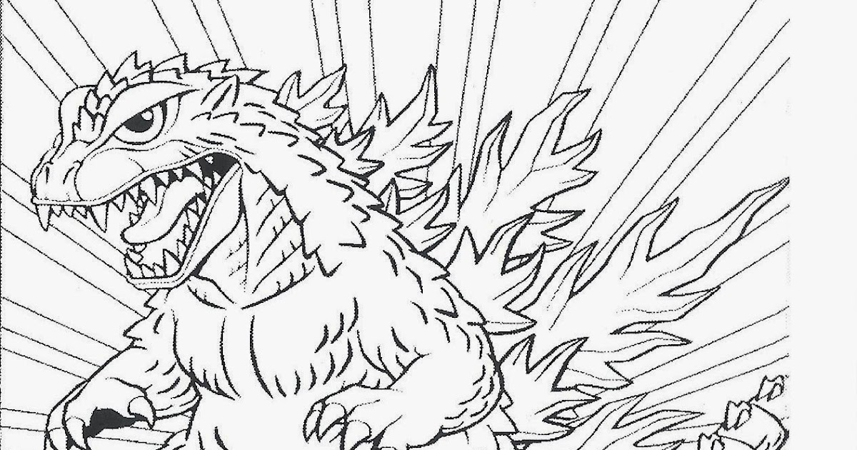 godzilla and coloring pages - photo#41