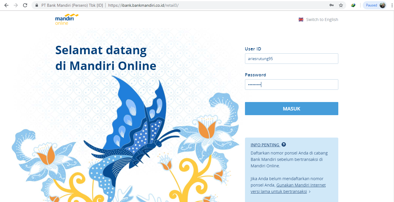 Membayar Spp Via Mandiri Online Anak Pantai