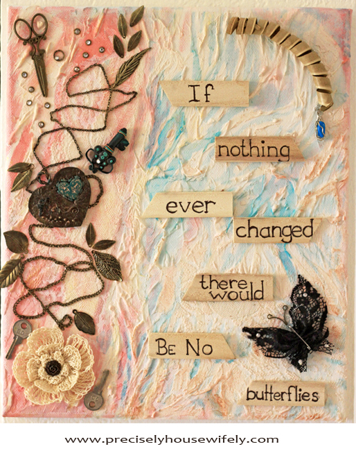 mixed media quote