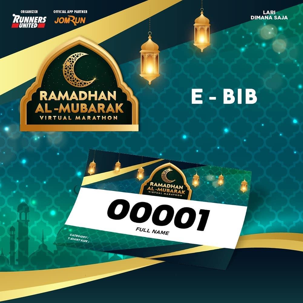 e-Bib 💳  Ramadhan Al-Mubarak Virtual Marathon • 2021
