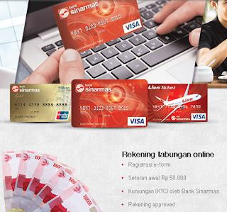 cara pembukaan rekening online sinarmas