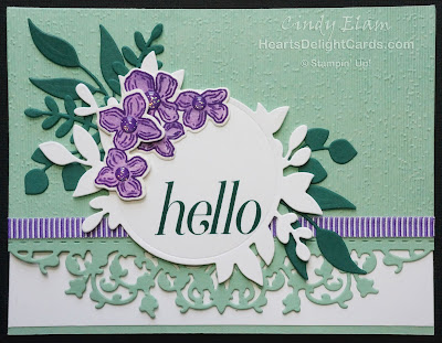 Heart's Delight Cards, Floral Frames, Foliage Frame Framelits, Hello, Stampin' Up!