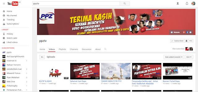 Pengetahuan Mengenai Zakat Melalui Youtube PPZTV