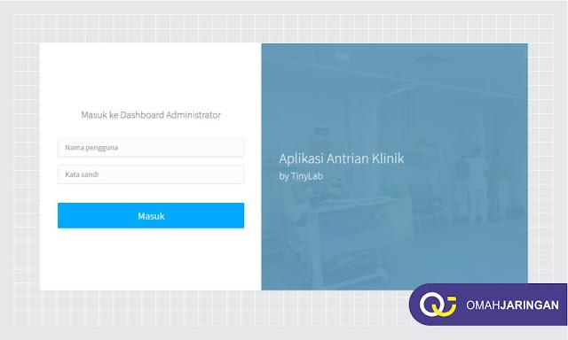 Tampilan Halaman Login User Review Aplikasi Antrian Berbasis Web Dengan PHP, MySQL dan Codeigniter