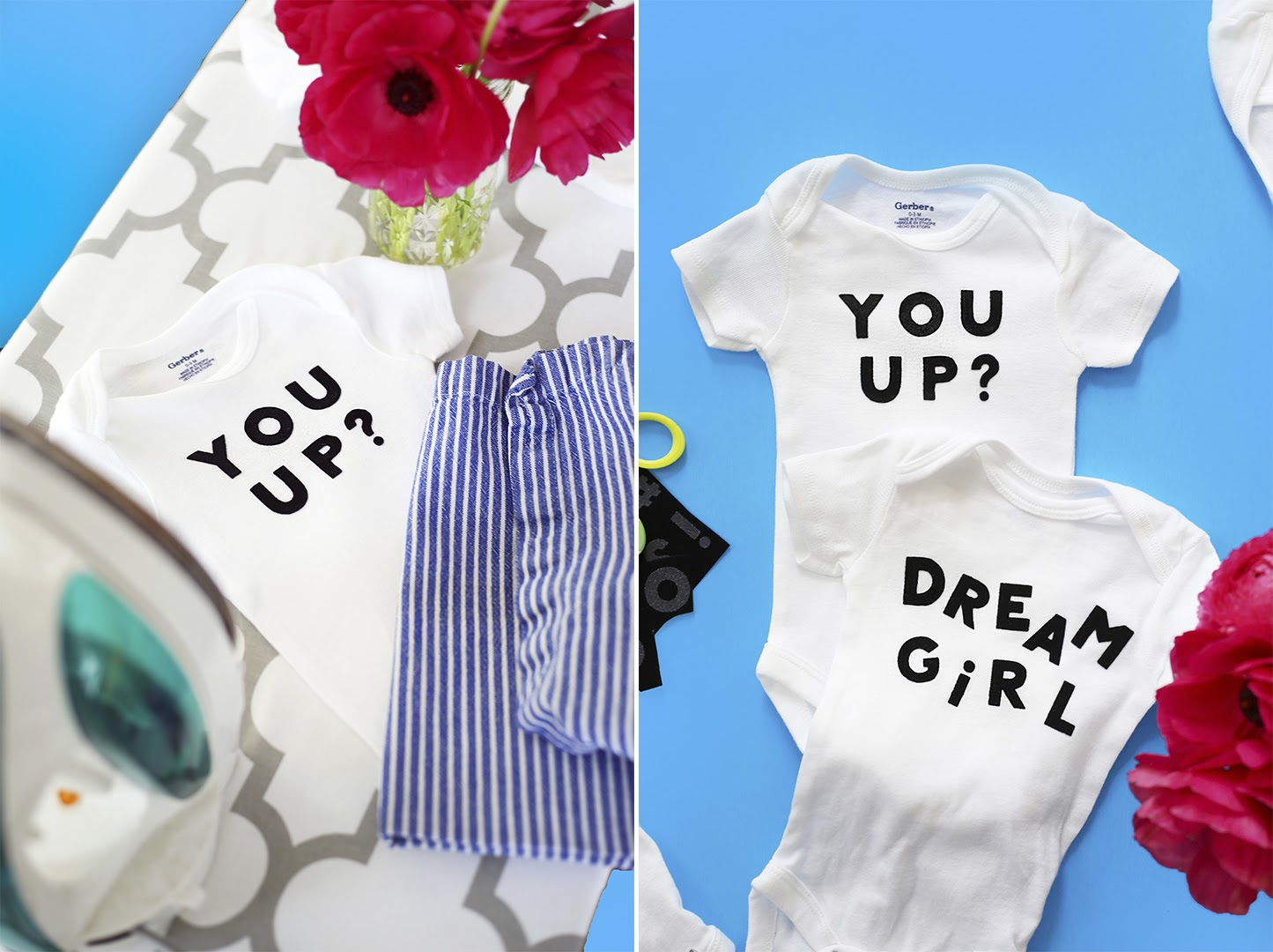 Diy baby shower personalized onesies hey eep that dont make me cringe and dont break the bank i set out to turn a bulk pack of onesies into itty bitty graphic tees even id be down to wear negle Images