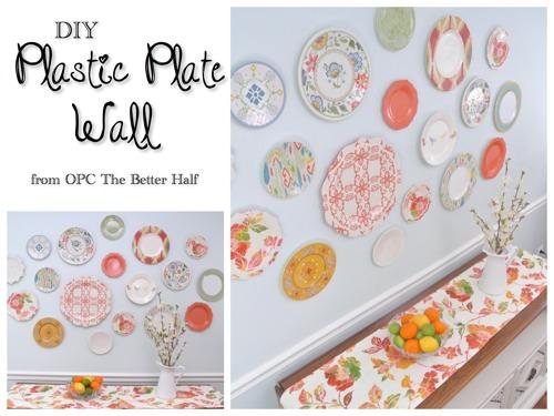 Home Design Diy Plastic Plate Wall Craft O Maniac