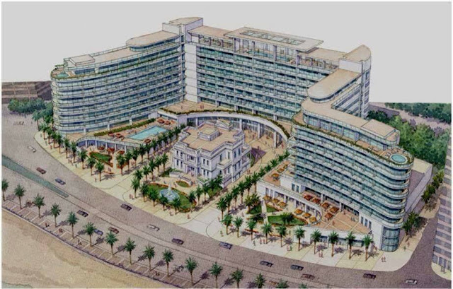 The alleged design of Aziza Fahmy palace hotel complex