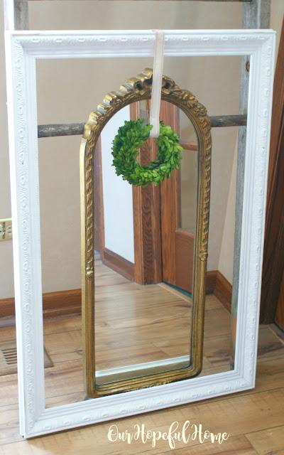 thrift store gilded mirror