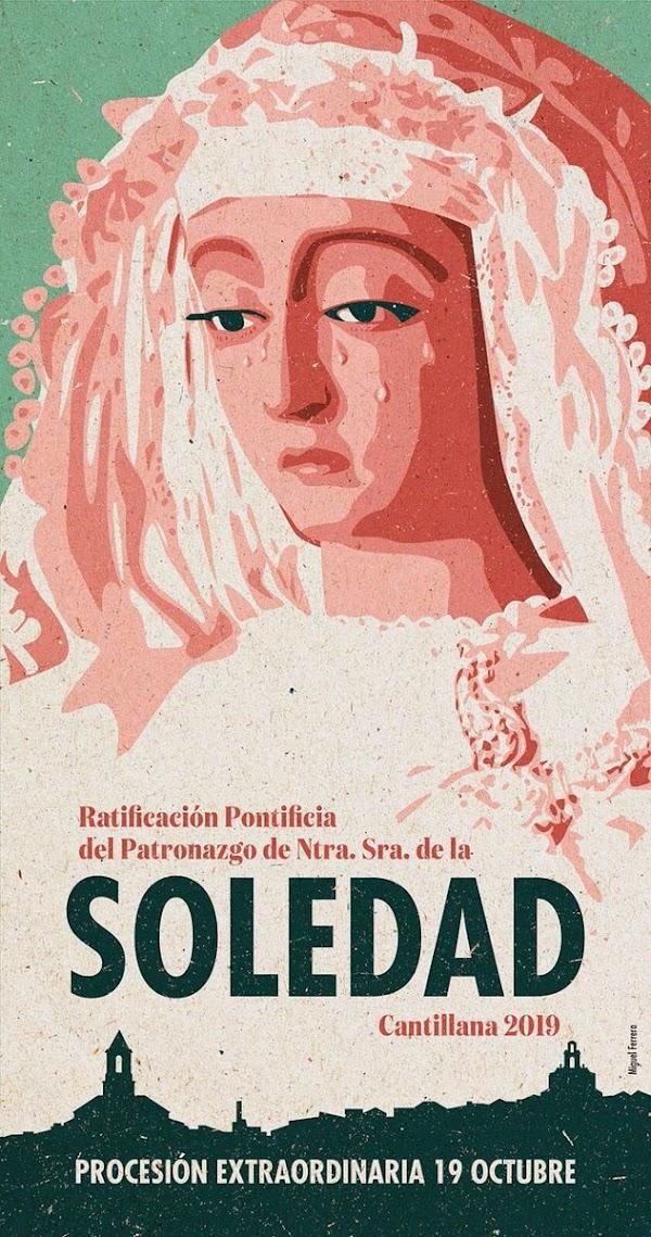 Cartel del patronazgo de la Soledad de Cantillana.