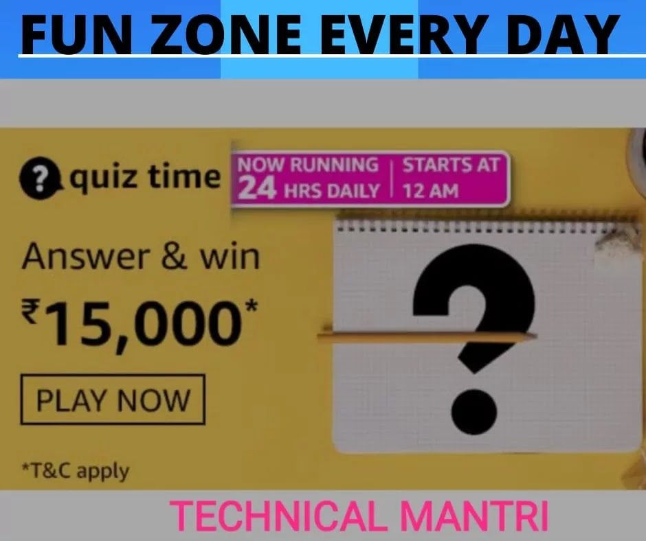 Amazon quiz answers today for 1st April 2021 : Win 15000