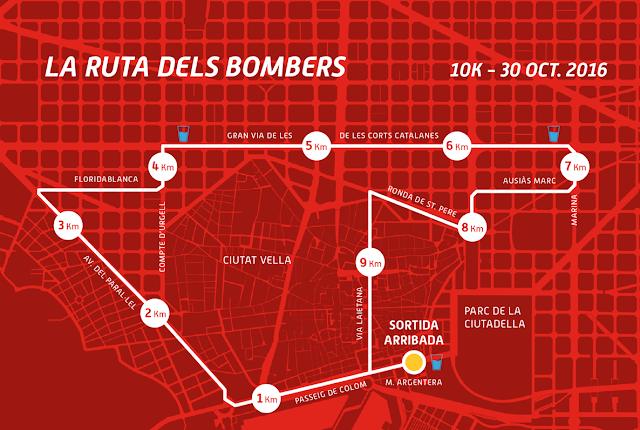Recorrido Cursa Bombers 2016