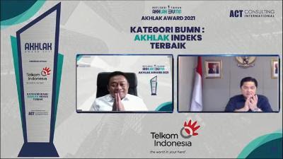 Wow ! Telkomgroup Juara Umum,  Borong Penghargaan di Ajang AKHLAK Award 2021