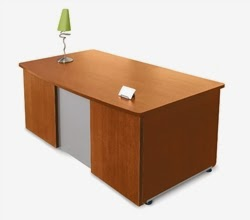 Venice Executive Desk with Cherry Finish by OFM