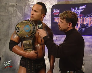 WWE / WWF Unforgiven 2000 - Michael Cole interviews WWF Champion The Rock