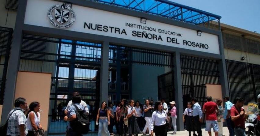 UGEL Chiclayo interviene colegio Rosario por presuntos cobros indebidos tras denuncia de padres de familia