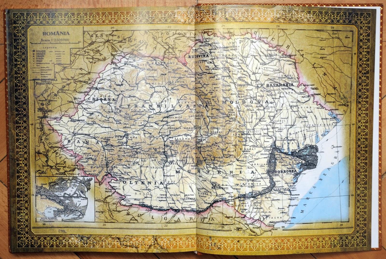 Istoria neamului romanesc - harta Romaniei mari