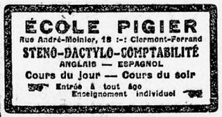 Pub ancienne de Clermont-Ferrand Pigier