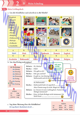 9. Sınıf Almanca A1.1 Ders Kitabı Cevapları Sayfa 24