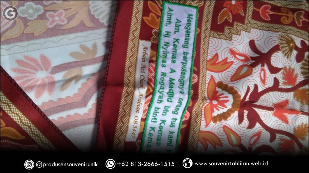Sajadah Batik, Souvenir Tahlilan 1 Tahun Terlaris di Indonesia