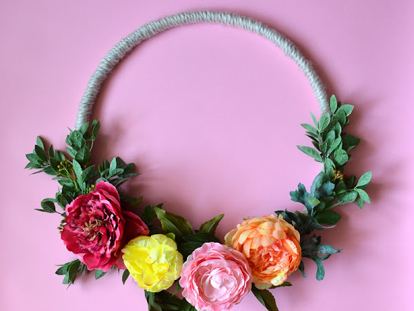Modern Embroidery Hoop Wreath Tutorial Spring or Summer