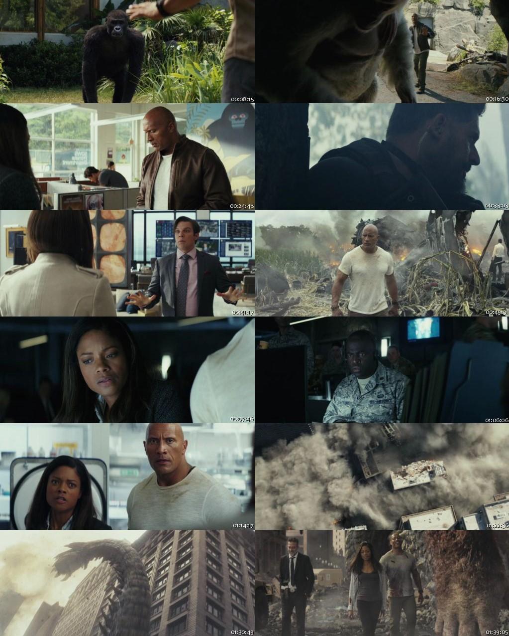Rampage 2018 Full Movie Online Watch BRRip 720p Dual Audio ESub