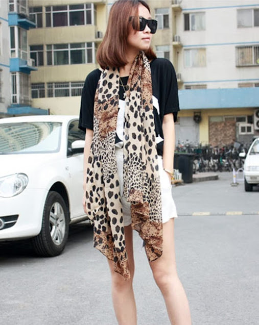Best Leopard Print Silky Chiffon Scarves