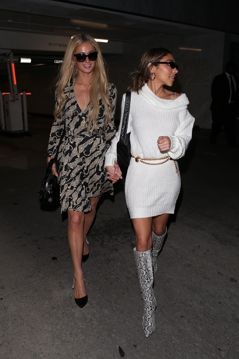 Paris Hilton And Chantel Jeffries Clicked at  Bootsy Bellows In West Hollywood 05 NOV-2019