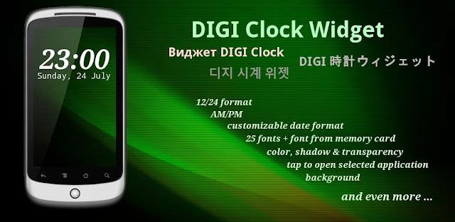 تنزيل DIGI Clock Widget Plus  - مجموعة أدوات ساعة لهواتف الاندرويد