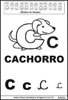 Alfabeto ilustrado letra C
