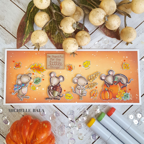 Be thankful for the little things by Michelle features Autumn Mice by Newton's Nook Designs; #newtonsnook