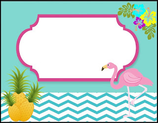 modelo convite de flamingos