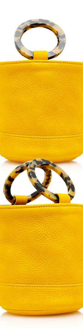 Simon Miller Bonsai 15 Mini Nubuck Bucket Bag in Yellow