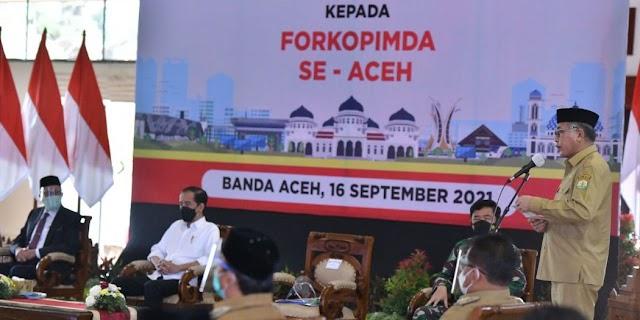 Gubernur Nova Laporkan ke Presiden Tentang Penanganan Covid-19 di Aceh