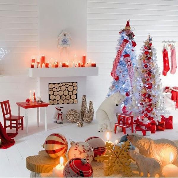 Ideas para una decoraci n moderna en navidad decoraci n for Decoracion navidena para el hogar