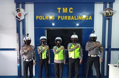 Kendaraan Patroli Lalu Lintas Purbalingga  Dilengkapi Kemera Portable