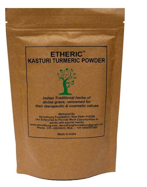 ETHERIC Wild Kasturi Turmeric Powder to remove acne (150 Grams)