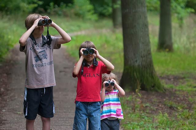 My kids enjoying a walk in the woods (2012)