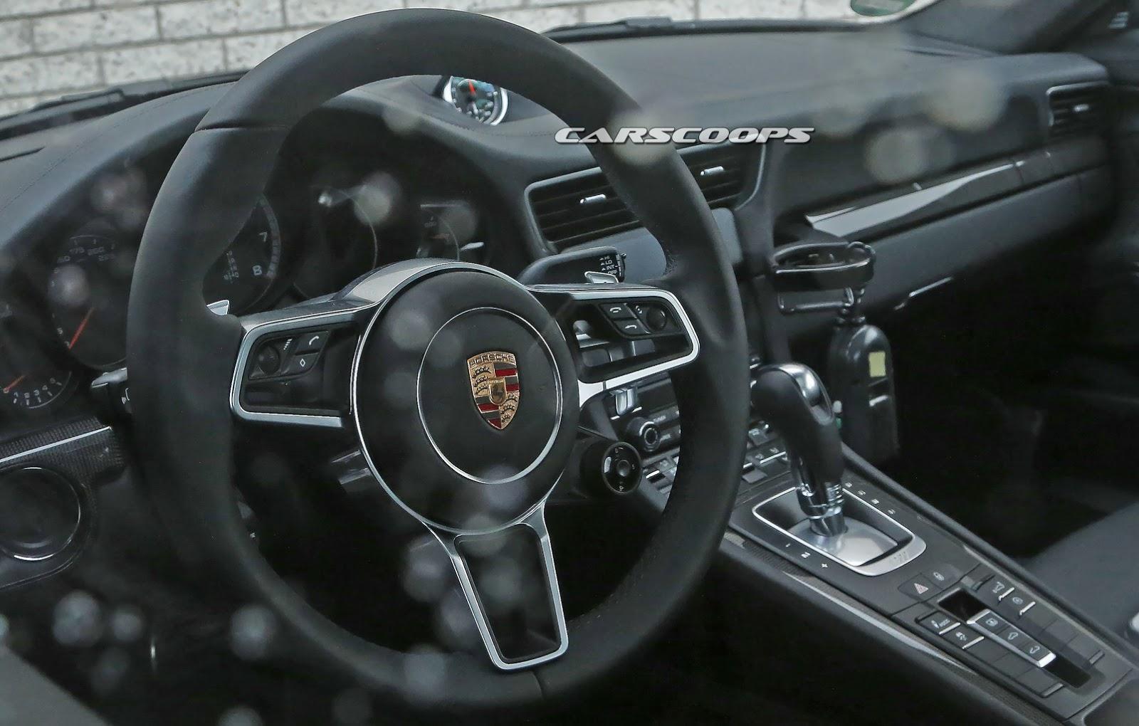 Facelifted 2016 Porsche 911 S Interior Spied Undisguised