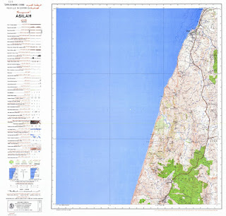 ASILAH 1993 Morocco 50000 (50k) Topographic map free download