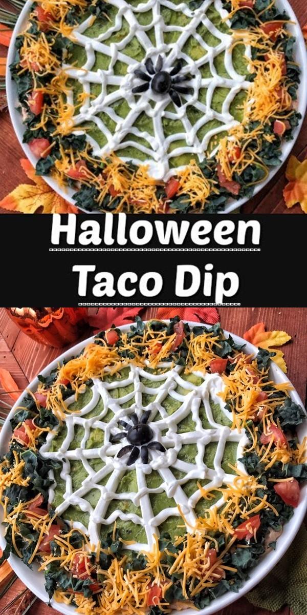 Halloween Taco Dip #halloweenrecipes