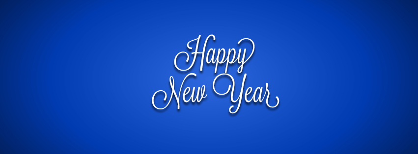Happy New Year - Blue