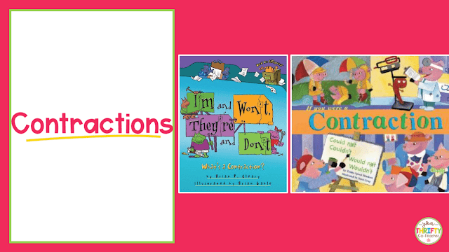 Here is a list of picture books to teach contractions. Use these to introduce contractions and engage your upper elementary students.